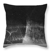 High Speed Photography Throw Pillow by Science Source