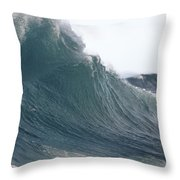 High Stormy Seas Throw Pillow