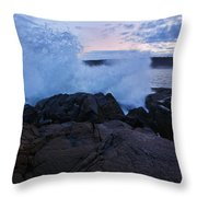 High Tide At Dusk Throw Pillow