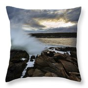 High Tide At Otter Point Throw Pillow