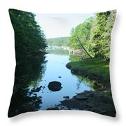 High Tide In Maine Part Of A Series Throw Pillow