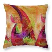 High Vibrational Throw Pillow by Linda Sannuti