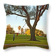 Higher Daddy Throw Pillow
