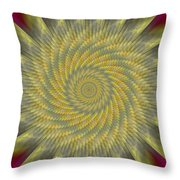 Highspeed Pinwheel Throw Pillow