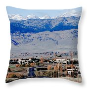 Highway 52 End Of The Line Throw Pillow