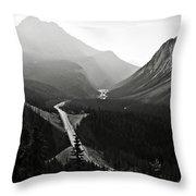Highway 93a Throw Pillow