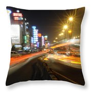 Highway And Hotels Throw Pillow