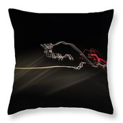 Highway Lighting Effects-red Bull Throw Pillow