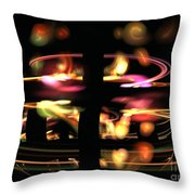 Highway Lights Throw Pillow by Kim Sy Ok