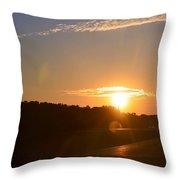 Highway Sunrise Throw Pillow