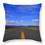Highway To Nowhere Throw Pillow