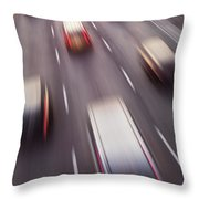Highway Traffic In Motion Throw Pillow