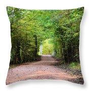 Hiking At Sundown Throw Pillow