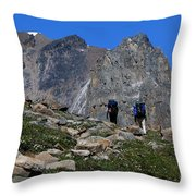 Hiking In Jasper Throw Pillow