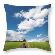 Hiking In The Summer Throw Pillow