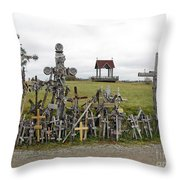Hill Of Crosses 01. Lithuania Throw Pillow