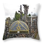 Hill Of Crosses 04. Lithuania Throw Pillow