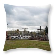 Hill Of Crosses 05. Lithuania Throw Pillow