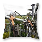 Hill Of Crosses 08. Lithuania Throw Pillow