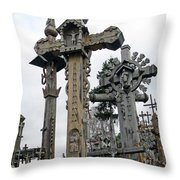 Hill Of Crosses 09. Lithuania Throw Pillow