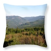 Hills And Trees Throw Pillow