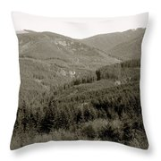 Hills In Black And White Throw Pillow