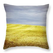 Hills Of Gold Throw Pillow