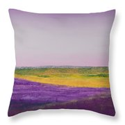 Hills Of Lavender Throw Pillow