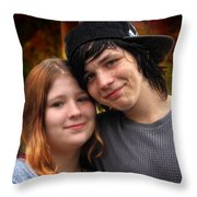 Him 'n Her - Young Lovers Throw Pillow