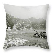 Himalayan Weather Throw Pillow