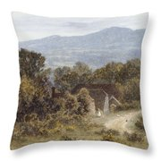 Hindhead From Sandhills Witley Throw Pillow