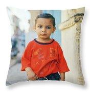 A Brahmin Boy Throw Pillow
