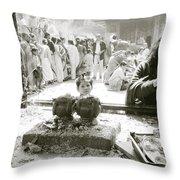 Hindu Festival Throw Pillow