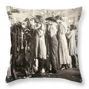 Hine: Child Labor, 1910 Throw Pillow