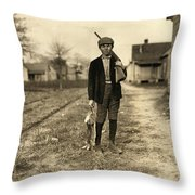 Hine: Hunter, 1908 Throw Pillow