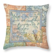 Hint Of Spring Butterfly 1 Throw Pillow