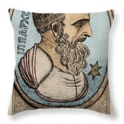 Hipparchus, Greek Astronomer Throw Pillow by Photo Researchers, Inc.