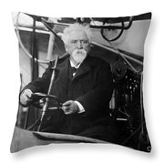 Hiram Maxim, American-anglo Inventor Throw Pillow