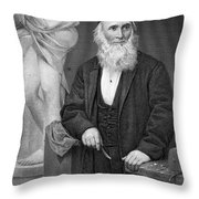 Hiram Powers (1805-1873) Throw Pillow