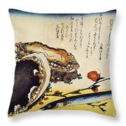 Hiroshige: Color Print Throw Pillow