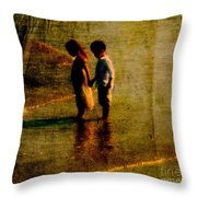 His Kindergarten Sweetheart Throw Pillow