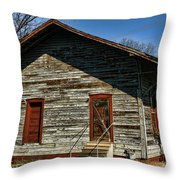 Historic Circa 1800s Railway Station Throw Pillow