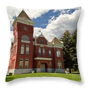 Historic Courthouse Marysvale Utah Throw Pillow
