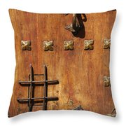 Historic Door Throw Pillow