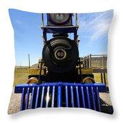 Historic Jupiter Steam Locomotive Throw Pillow