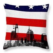 Historic Philadelphia  Throw Pillow