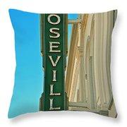 Historic Roseville California Throw Pillow