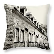 Historic Row Homes Allaire Village Throw Pillow