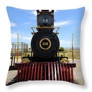 Historic Steam Locomotive Throw Pillow