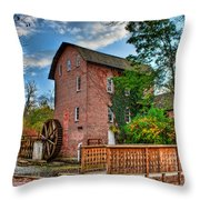 Historic Woods Grist Mill Throw Pillow